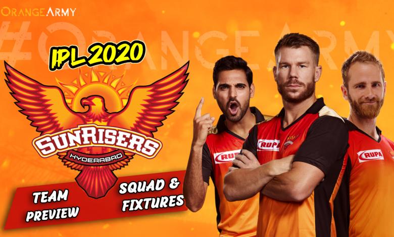 Sunrisers Hyderabad 2020 IPL