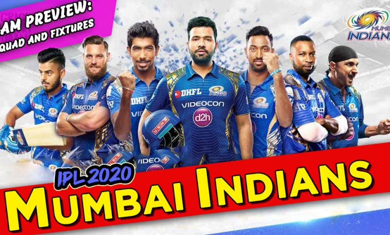 Mumbai Indians 2020 IPL