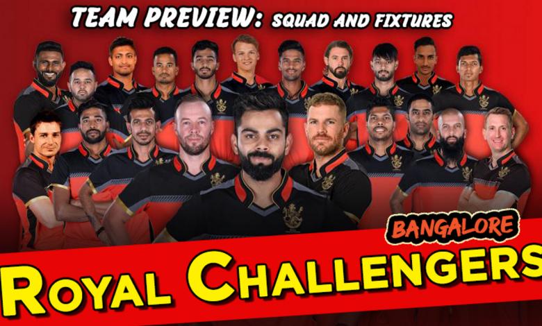 Royal Challengers Bangalore RCB 2020