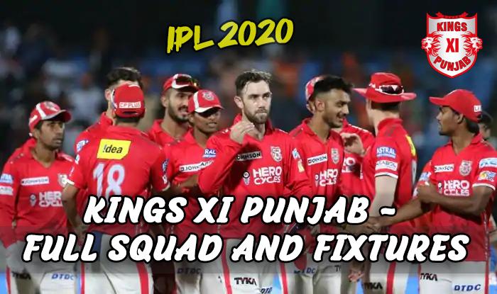Kings XI Punjab 2020 IPL