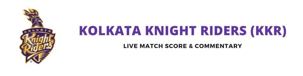 KKR live score